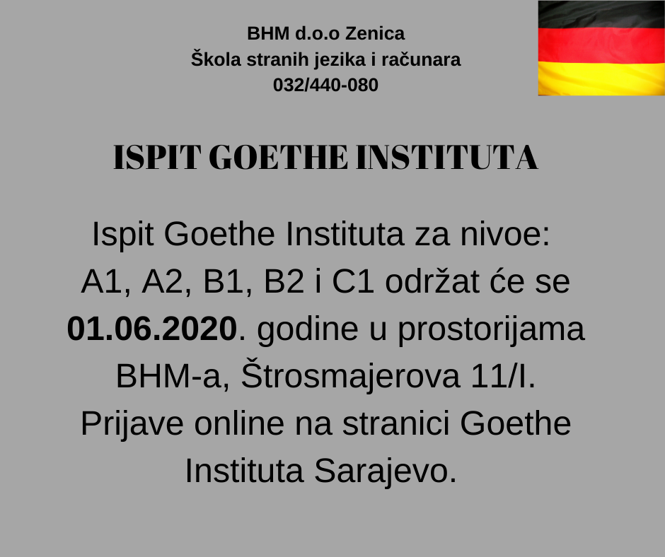 ispit Goethe instituta